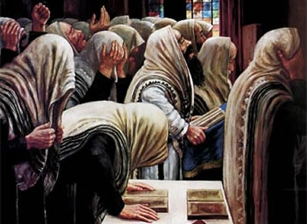 ''Prière'' par le peintre 'hassidique Zalman Kleinman