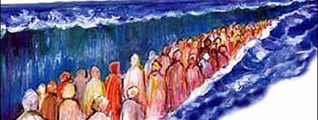 Il changea la mer en terre ferme : ils passèrent le fleuve à pied sec